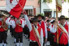 Markgröningen: Internationales Musikfest, Konzert auf dem Marktplatz.Musikverein Alberschwende, Österreich.
