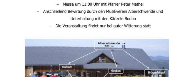 Bergmesse auf der Breitentobelalpe, am Sonntag, 22. September 2019